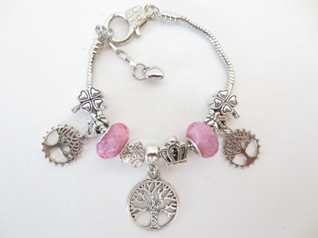 Pandora armband Tree of life roze