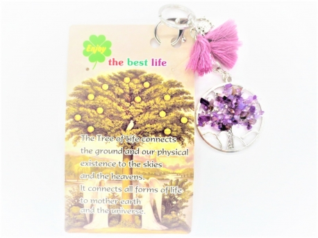 Tree of Life sleutelhanger amethyst