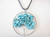 Tree of Life ketting turquoise