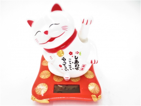 Lucky Cat Solar Light mini wit