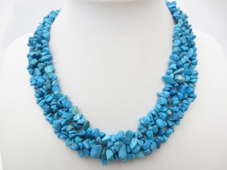Brede steenketting Turquoise