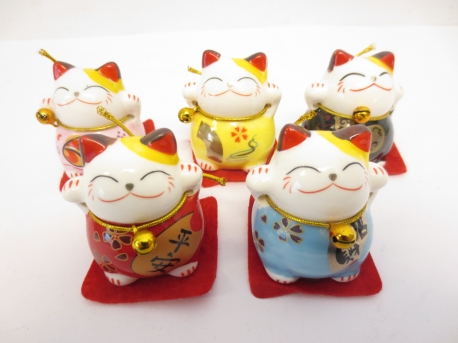 Chinese Lucky cat set van 5 II