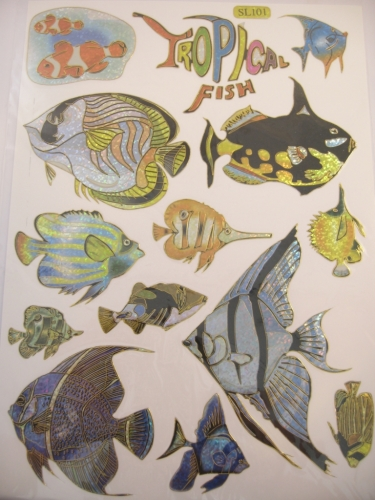 Stickers Tropical Fish 1 vel