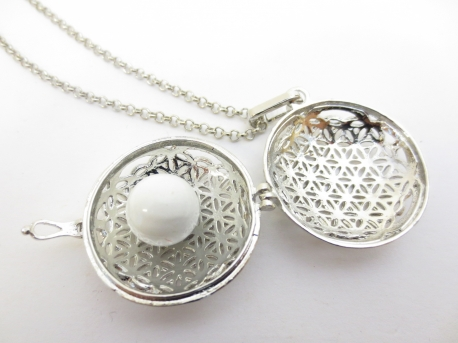 Engelen Roeper flower of life wit