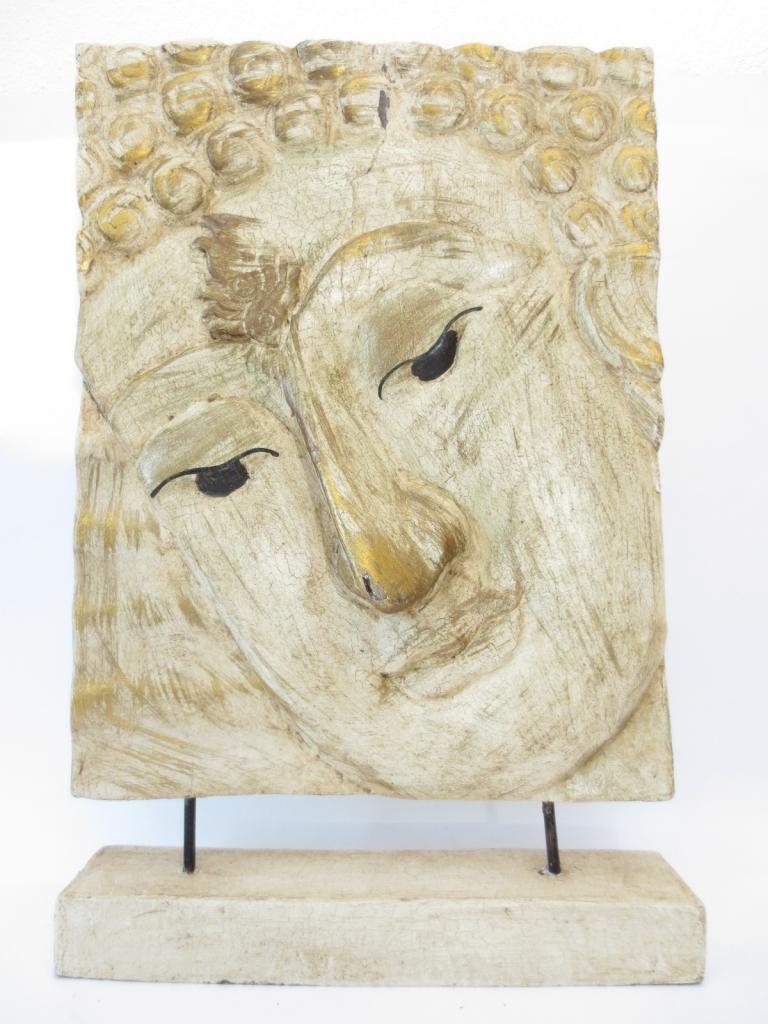 Boeddha houten schilderij op standaard (Wit) groothandel  Dragon Euro ...